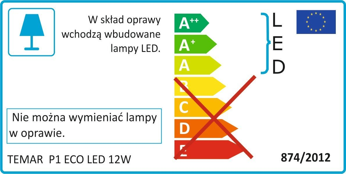 Lampa Downlight Tuba TB CLEO LED 100 12W czarna